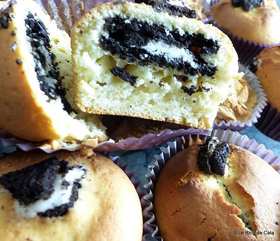 recette Muffins aux biscuits Oreo