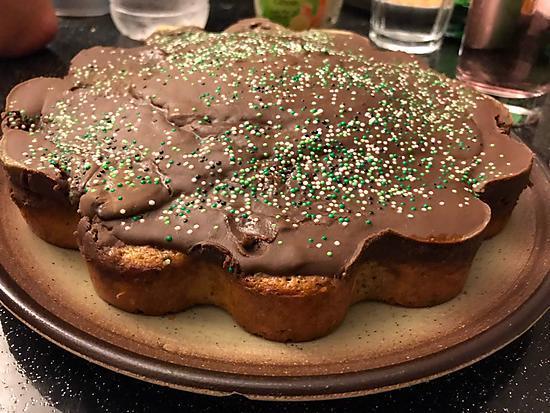 recette Gâteau aromatisé au thé vert matcha et au myrtilles