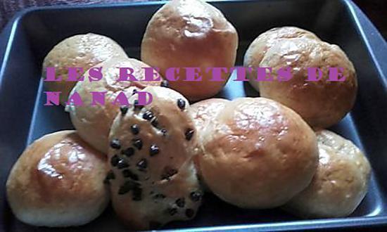 recette Petits pains moelleux fourrés à la noix de coco