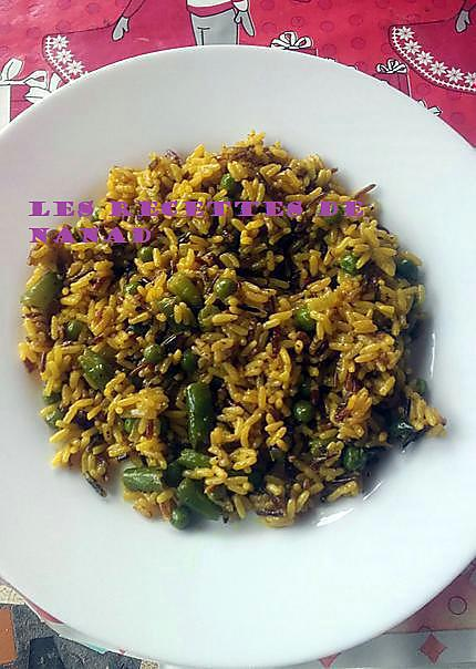 recette 3 riz au curcuma et légumes vert