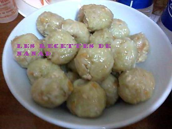 recette Niouk yen(boulettes vapeur de chayotte/christophine)