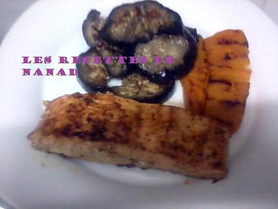 recette Saumon au citron-paprika et giraumon(potiron) au beurre