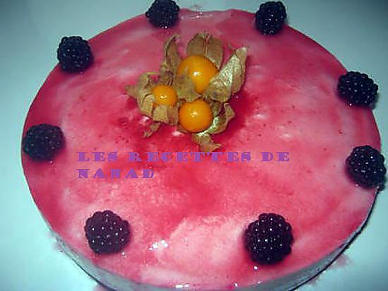 recette Entremet aux fruits rouges