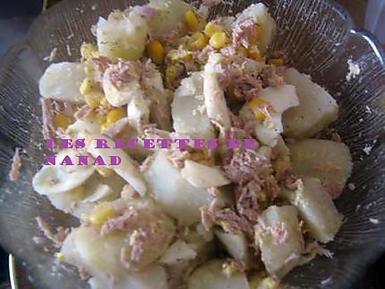 recette de salade de pommes de terre au thon par les recettes de nanad. Black Bedroom Furniture Sets. Home Design Ideas