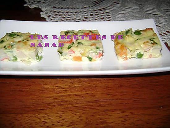 recette Bouchées de surimi et légumes
