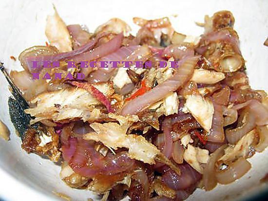 recette Fricassé poisson salé didine (morue séchée)