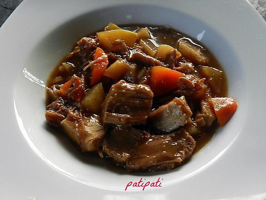 recette Carbonnade aux légumes anciens