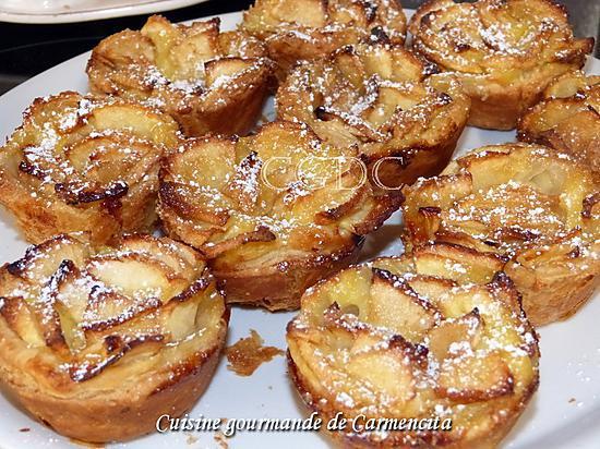 recette Tartelettes aux pommes et crème pâtissière au rhum