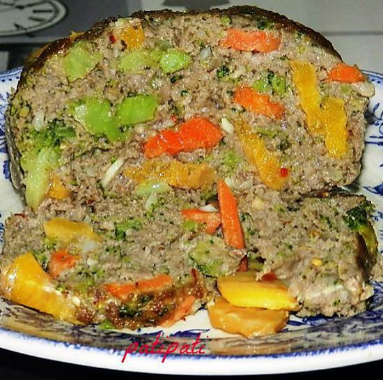 recette Pain de viande aux deux carottes et haricots