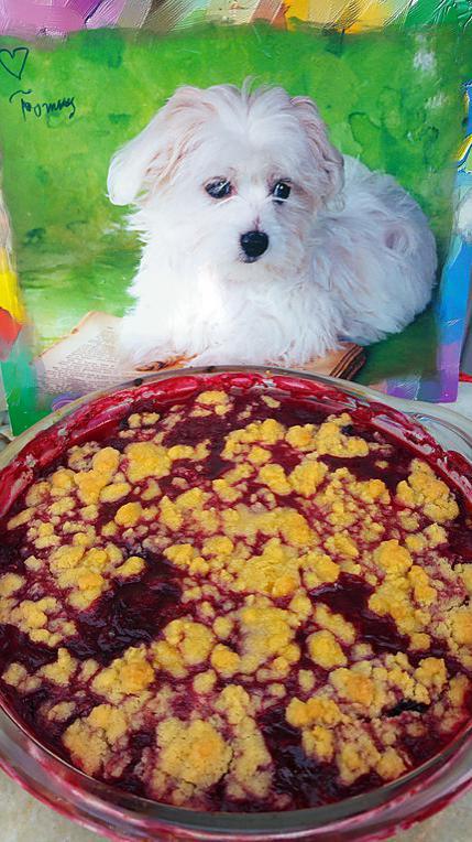 recette Crumble de Tommy et ces fruits rouges au coulis de framboises ....