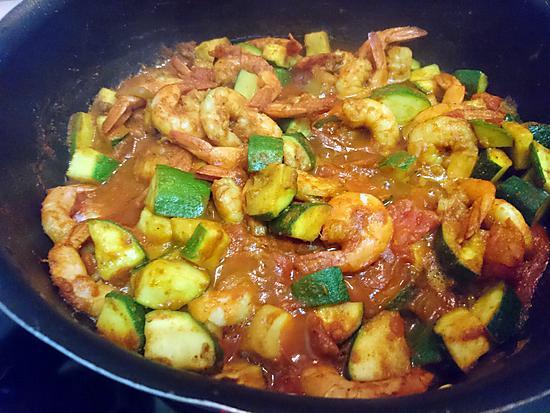 recette Crevettes épicées