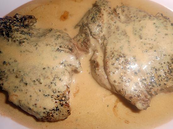 recette Filet de boeuf sauce au poivre