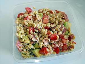 Recette de salade de bl avocat et jambon cru - Comment couper une tomate en cube ...
