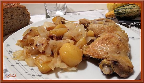recette Cuisses de Poulet au Chou
