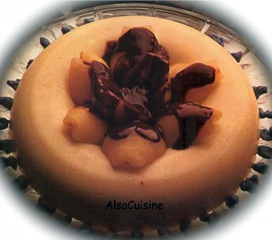 recette Semoule aux poires sauce chocolat