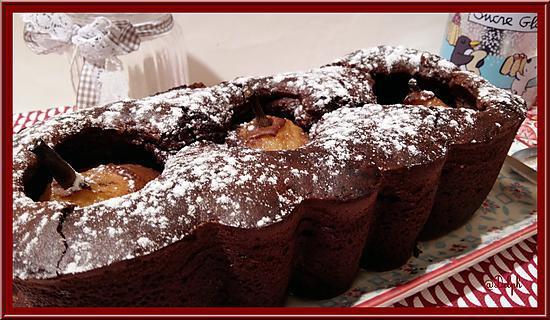 recette Cake Poires Mascarpone Chocolaté