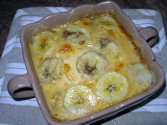 recette de gratin de bananes coco rhum. Black Bedroom Furniture Sets. Home Design Ideas