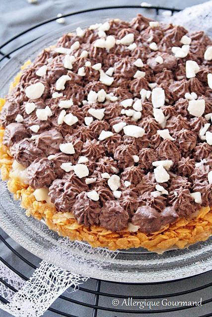 recette Tarte céréales-poires-chocolat bio {sans gluten, sans lait, sans oeufs}