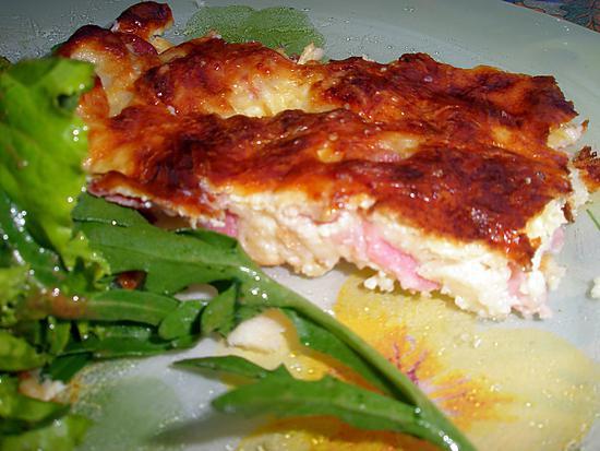 """recette Quiche sans pâte de"""" La cuisine des Minous"""""""