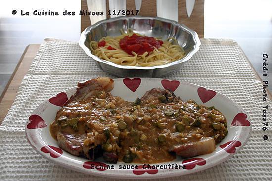 recette Échine de Porc Sauce Charcutière