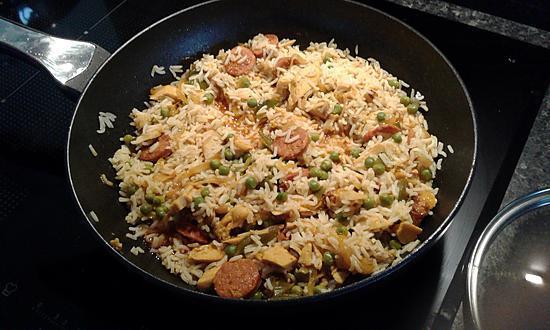 recette Arroz con carne (riz a la viande ,c est le riz a l espagnol)