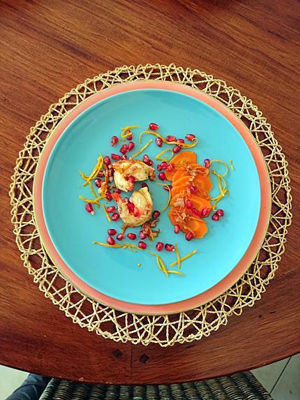 recette Homard rôti au beurre d'agrumes et grenade