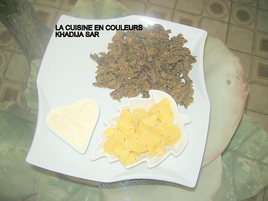 recette Sauté de boeuf/pommes de terre bouillies