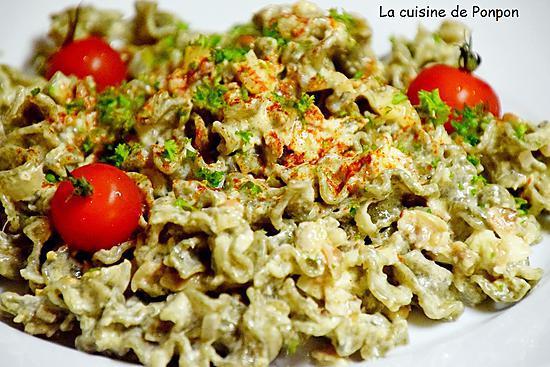 recette Pâte à la laitue de mer et vongole