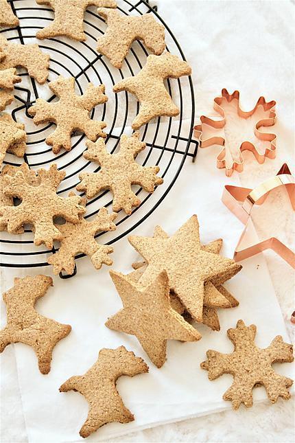 recette Spéculoos aux épices de Noël, bio {sans gluten, sans lait, sans oeufs}