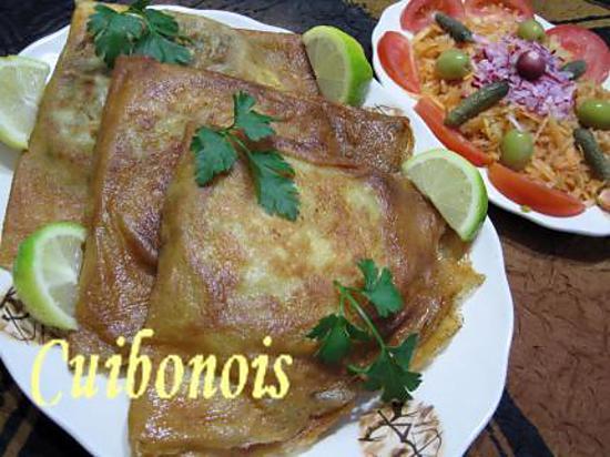 recette Bourek Annabi au thon, et salade de radis.