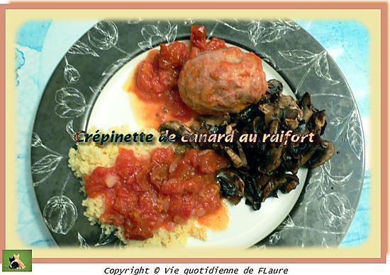 recette Crépinette de canard au raifort