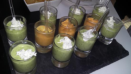 recette Velouté de courgette au boursin/ velouté de carotte a la coriandre