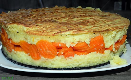 recette de g teau de pomme de terre fourr aux rondelles de carottes. Black Bedroom Furniture Sets. Home Design Ideas