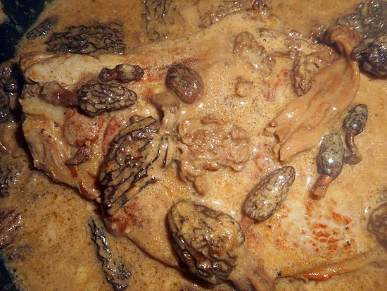recette Cote de veau aux morilles