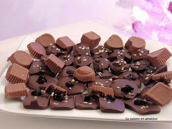 recette Chocolats de Noël aux griottes