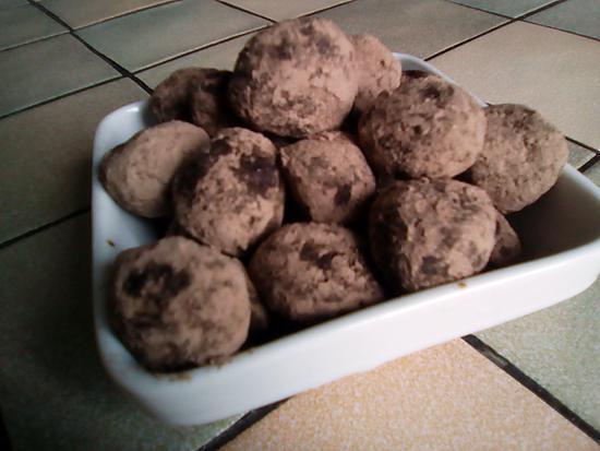 recette Truffes au chocolat sans sucre