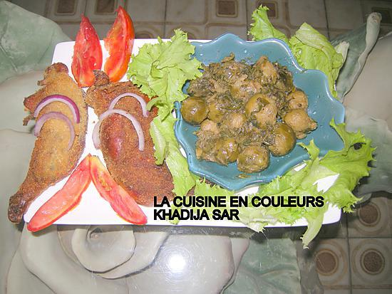 recette Cuisses de poulet panées/choux de BRUXELLES sautés