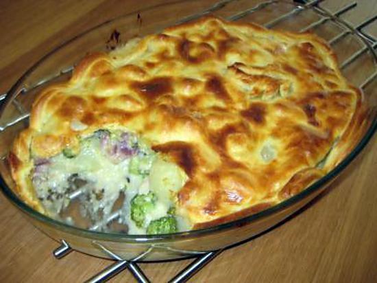 recette Tourte à la pommes de terre et au brocoli