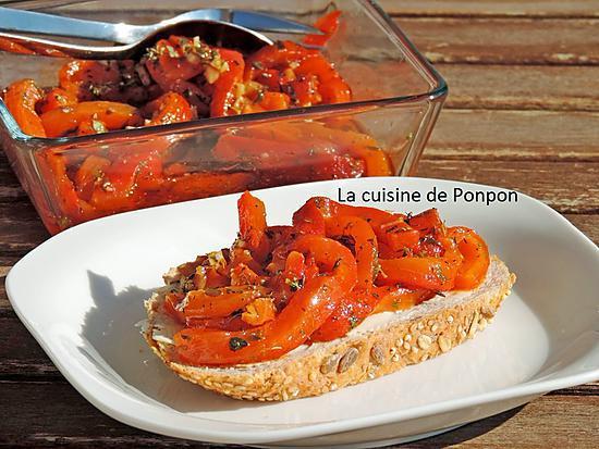 recette Poivron mariné à l'huile d'olive, ail et origan