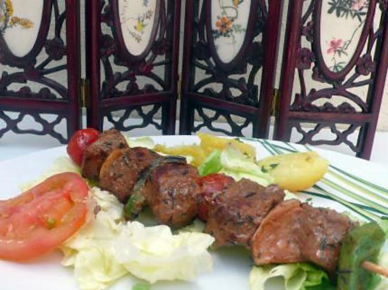 Recette de brochettes de boeuf par melayers - Portion de viande par personne ...