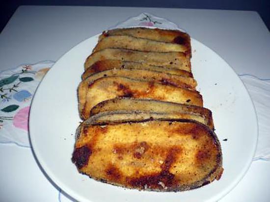 recette d 39 aubergines pan es la chapelure aux herbes. Black Bedroom Furniture Sets. Home Design Ideas