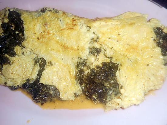 recette Omelette cremeuse à l oseille