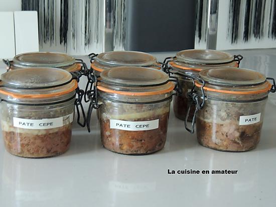 recette Pâté de campagne aux cèpes et cognac