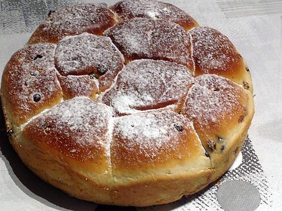 recette Brioche aux pépites de chocolat (sans beurre)