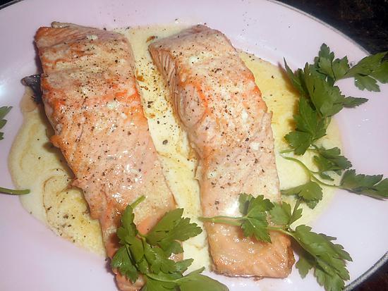 recette Pavé de saumon beurre a l ail et citron