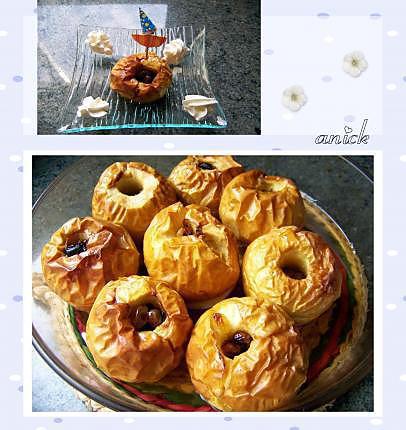 recette pommes au four à l'eau de rose et au muscat de rivesaltes