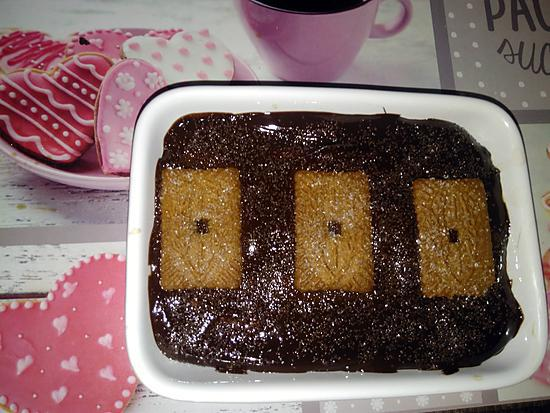recette Dessert au speculoos et chocolat sans cuisson