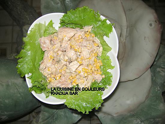 recette Salade au poulet et à l'ananas