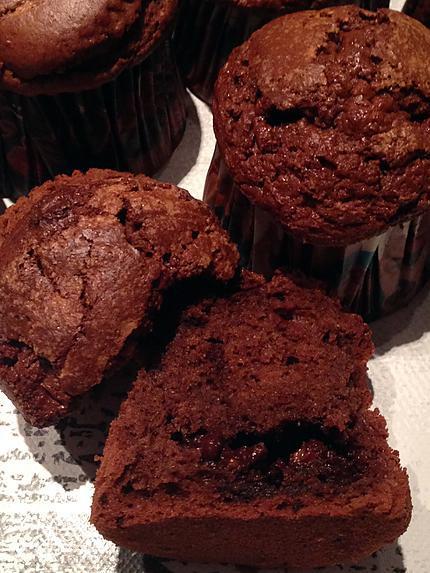 recette Muffins tout chocolat au thermomix