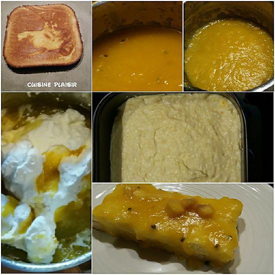 recette Bavarois à la mangue & fruits de la passion